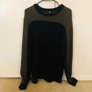 H&M Oversized Crew Neck Color Block Sweater